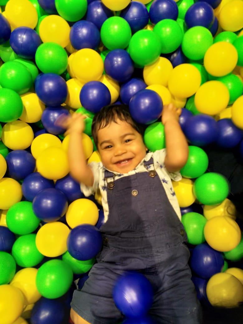 Cheeky Little Samar at the Kids Club
